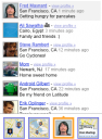 Google Latitude - Your friends' status messages